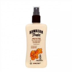 Hawaiian Tropic - Lotion spray solaire SPF 8 - Spray de 200ml