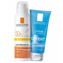 La Roche Posay - Anthelios Brume Invisible SPF 50+ - 200ml + Offert Lipikar Gel Lavant 100ml